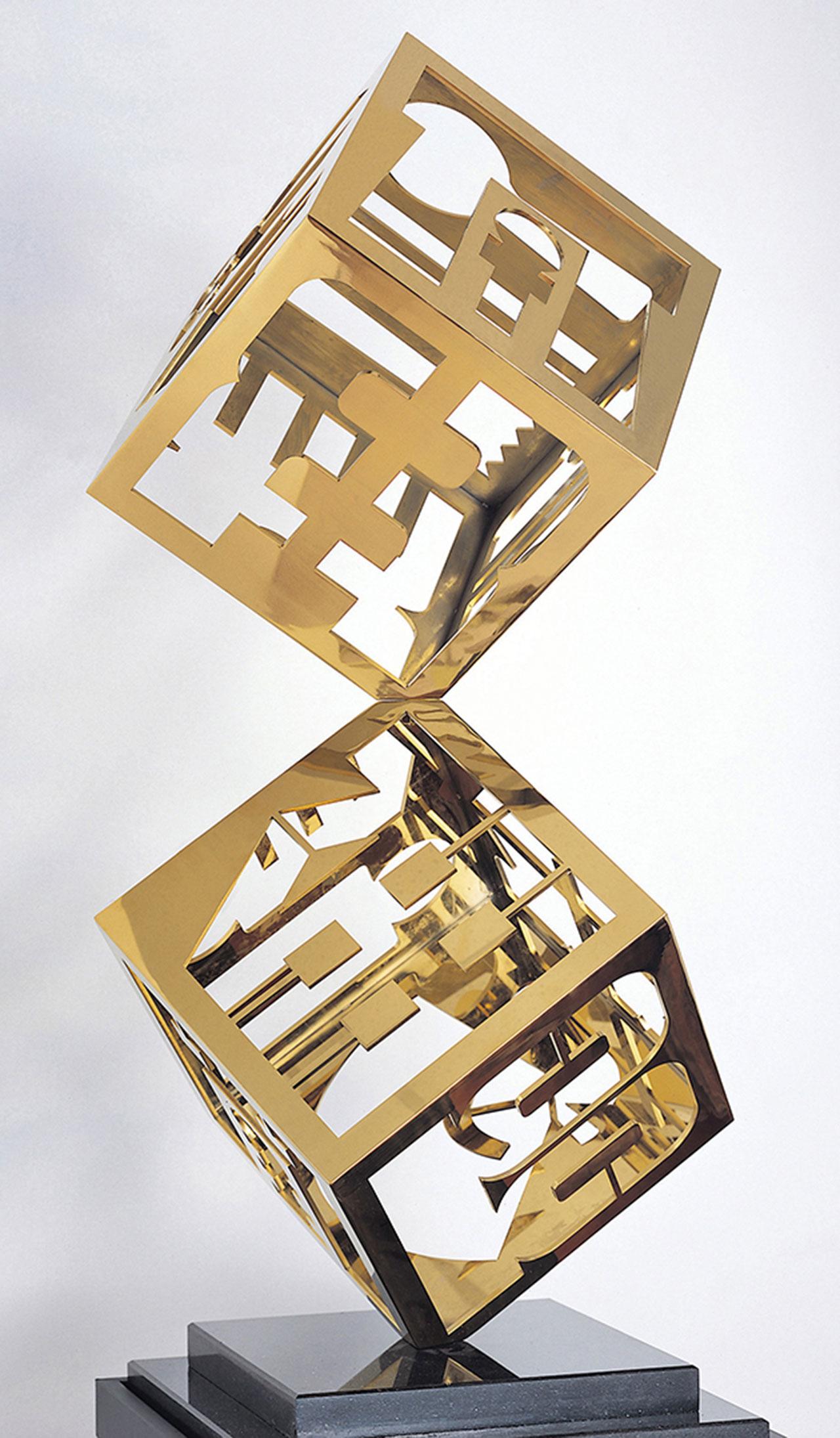 节庆之柱(四) 不锈钢 185x70x70cm
