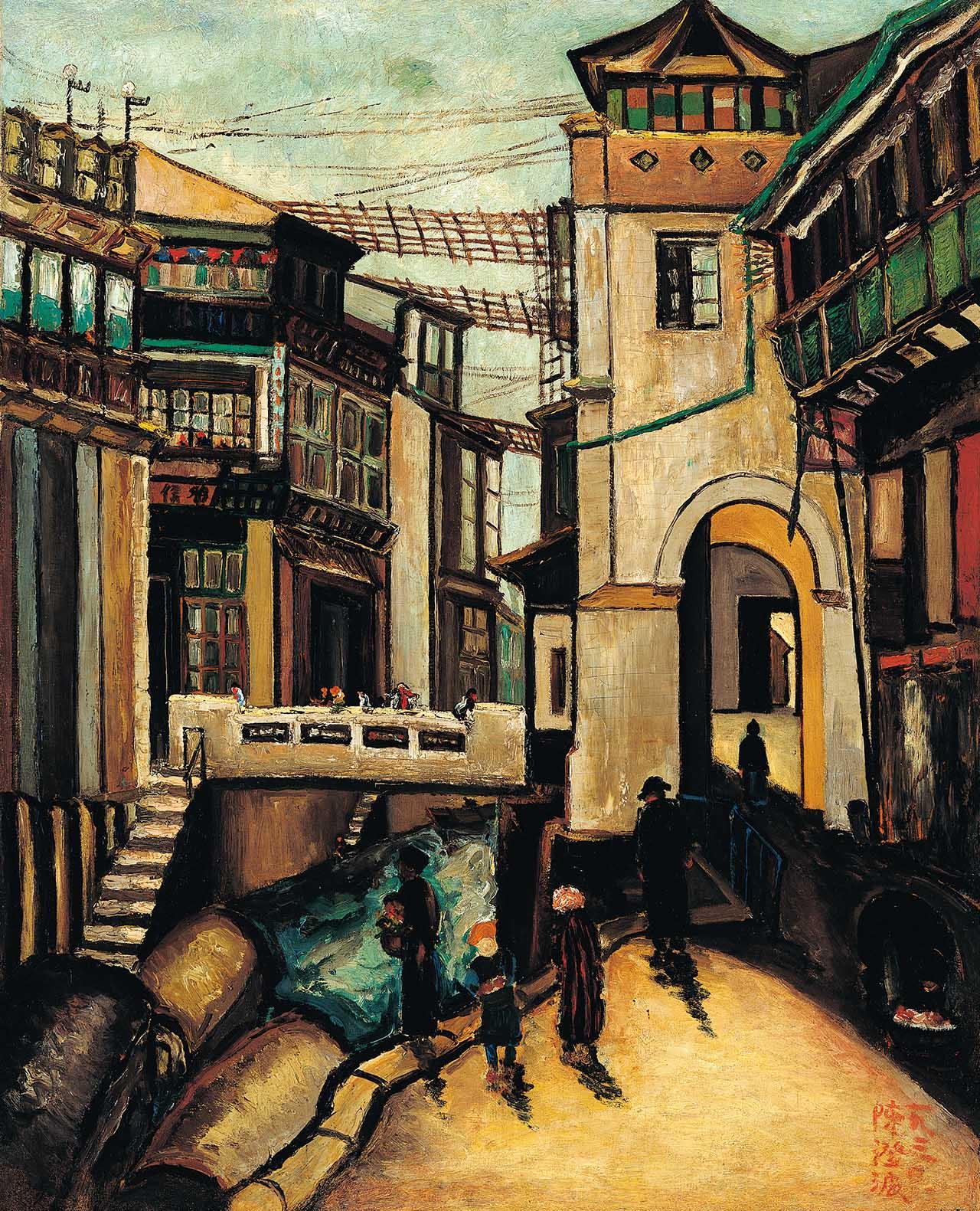 上海路桥 油彩画布 40F