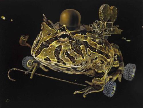 人生角斗士-蛙蛙摩登 油彩画布 55x73cm