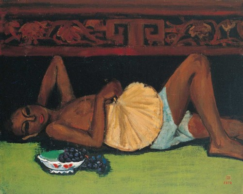 卧像 1934油彩画布 25F