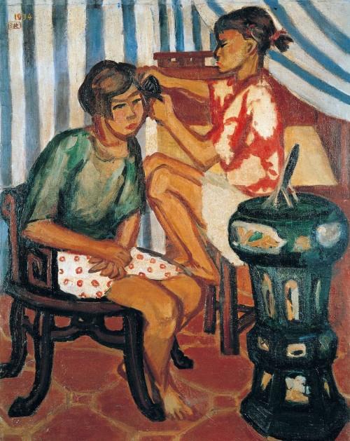 朝妆 1934油彩画布 30F