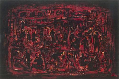 矿工颂 1966油彩画布 30M