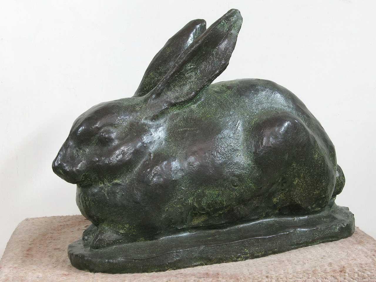 兔 38x28x22 青铜,