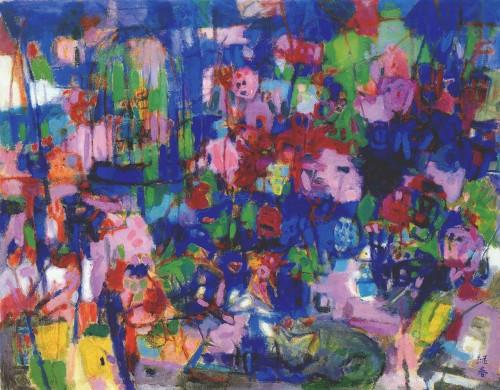花园春景 油彩画布 80.5x100cm