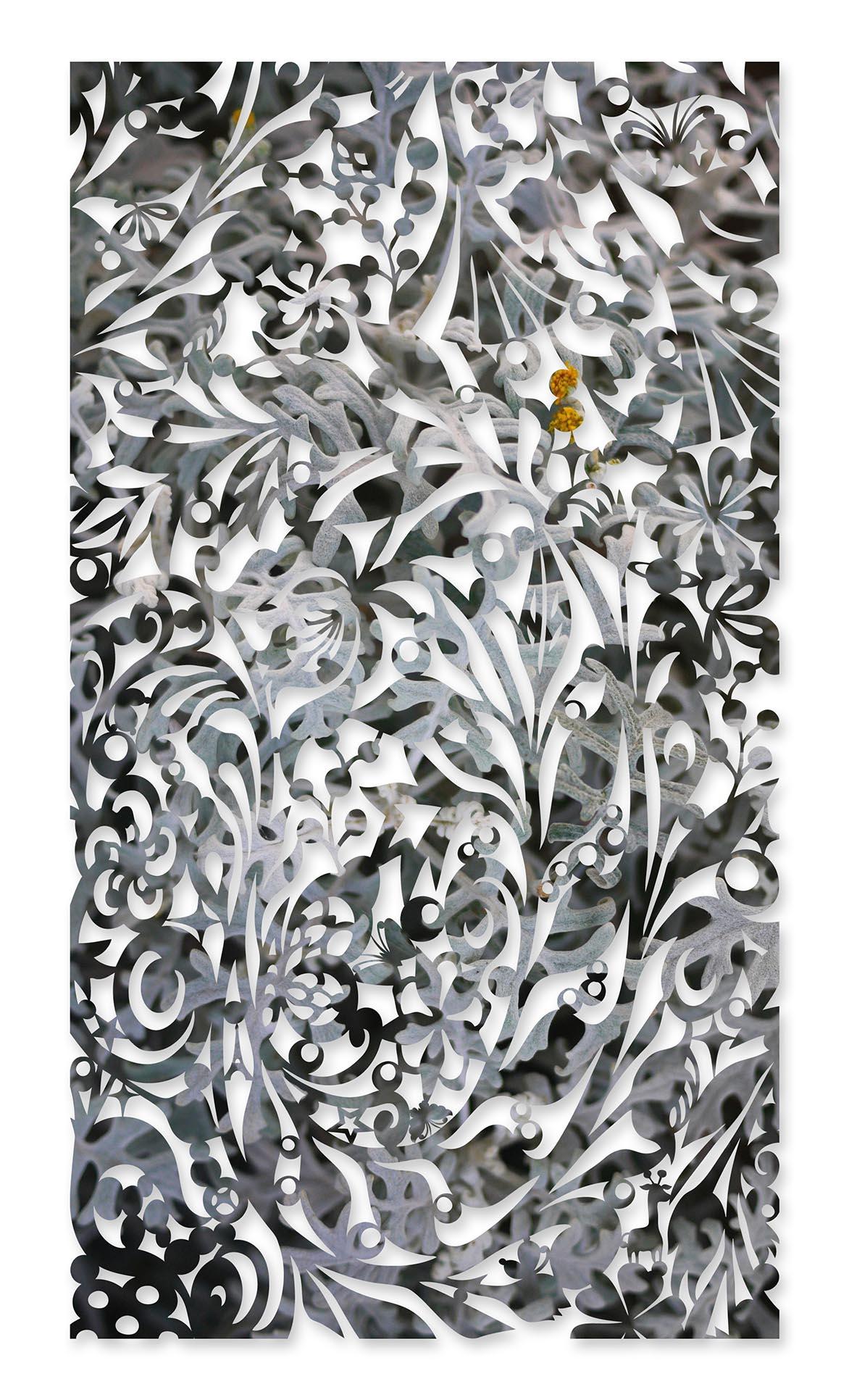 影像剪纸系列 - 雪凝如布 100x180cm 宣影布输出