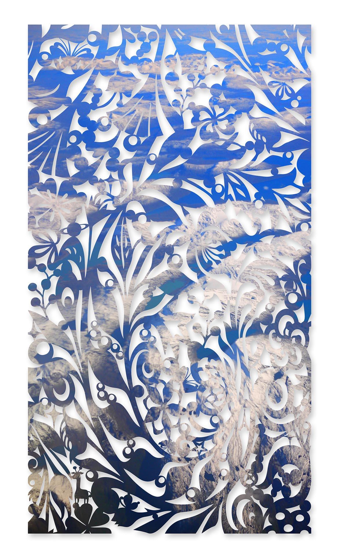 影像剪纸系列 - 极地碎拾 100x180cm 宣影布输出
