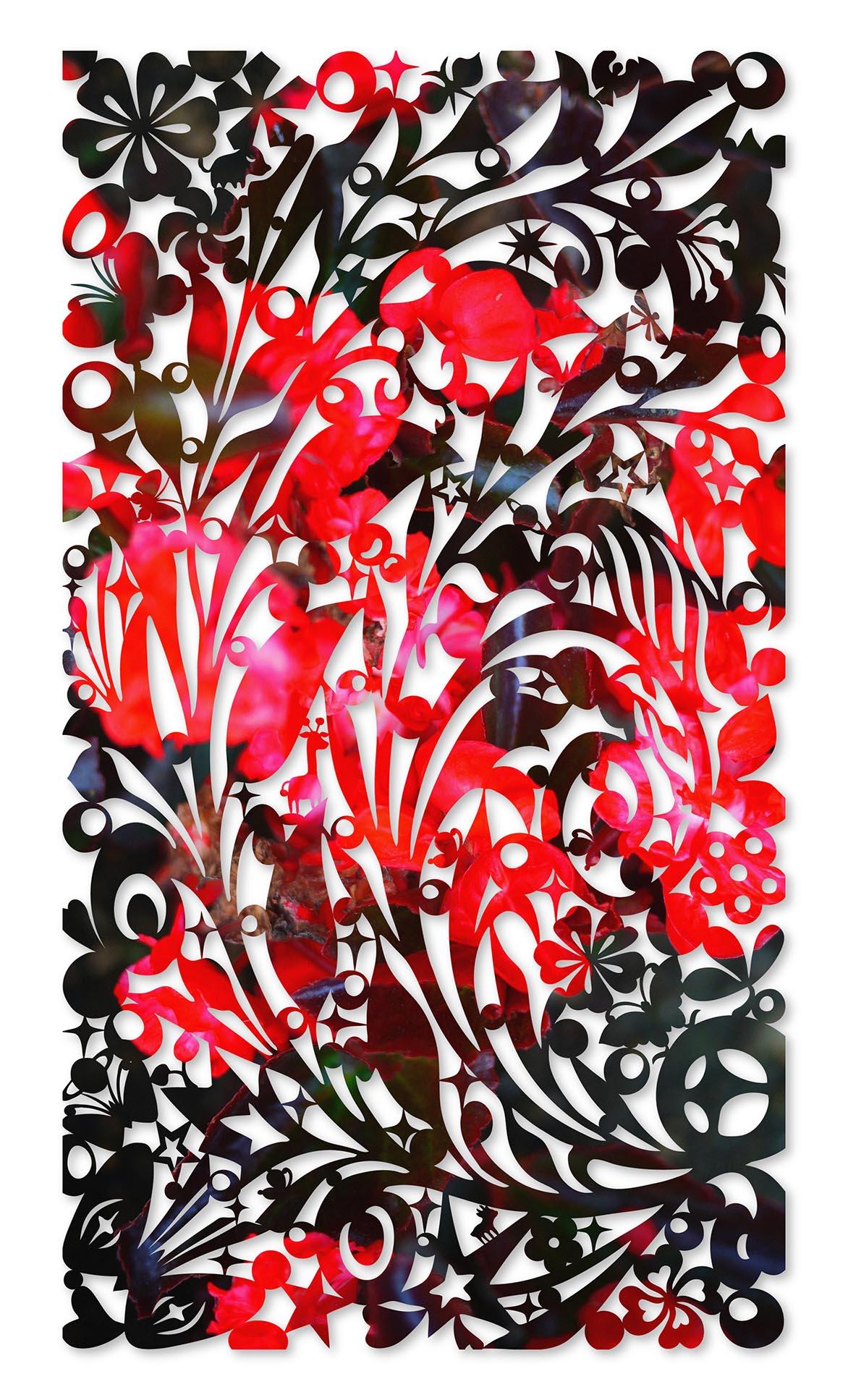 影像剪纸系列 - 南方 100x180cm 宣影布输出