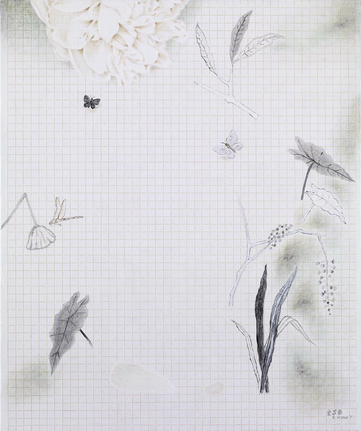 白调 油彩画布 72.5x60.5cm