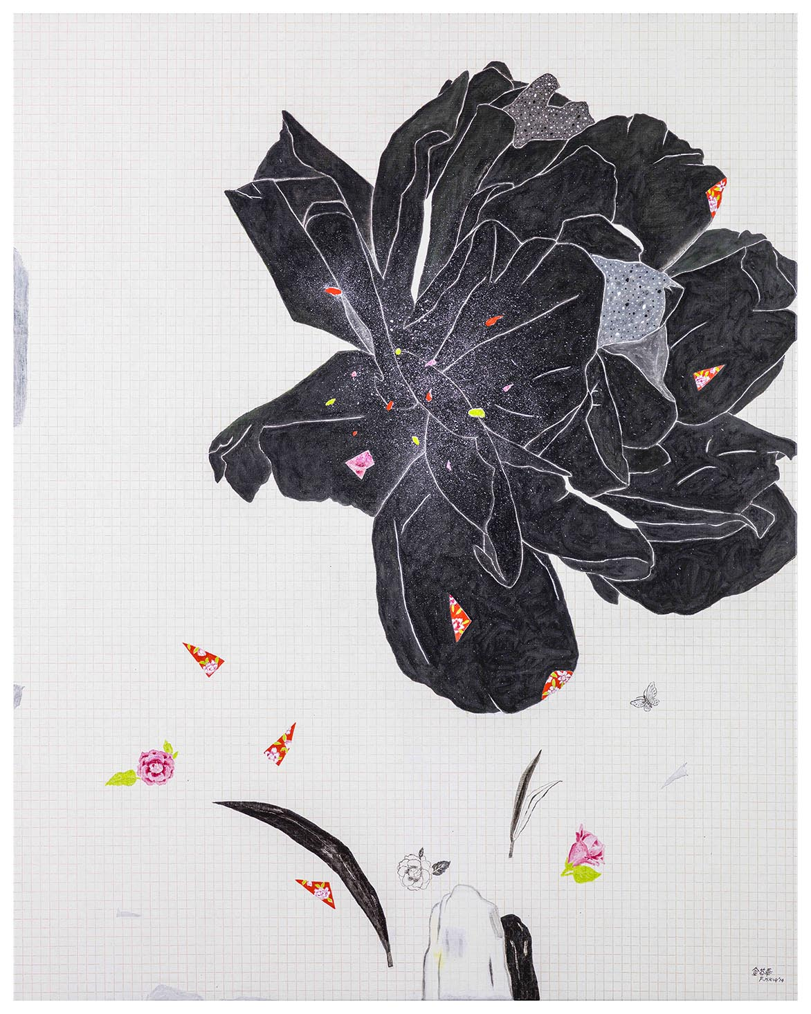 蔷薇花开-白 油彩画布 162x130cm