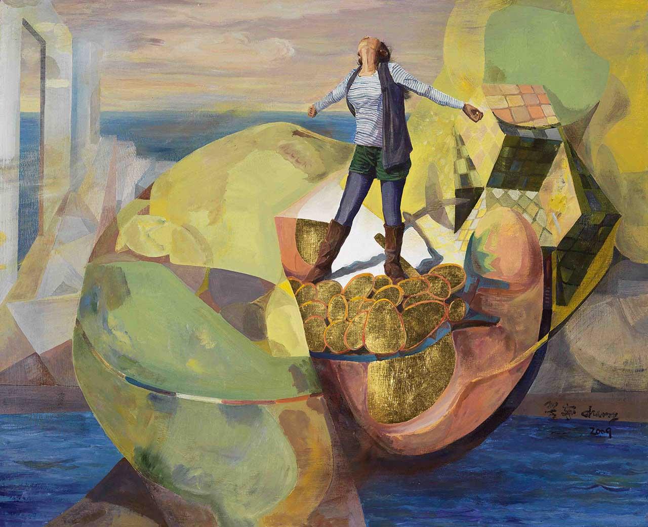 乡愁的岛屿─希望之岛2009油彩、画布 53.1x65.1cm(15F)