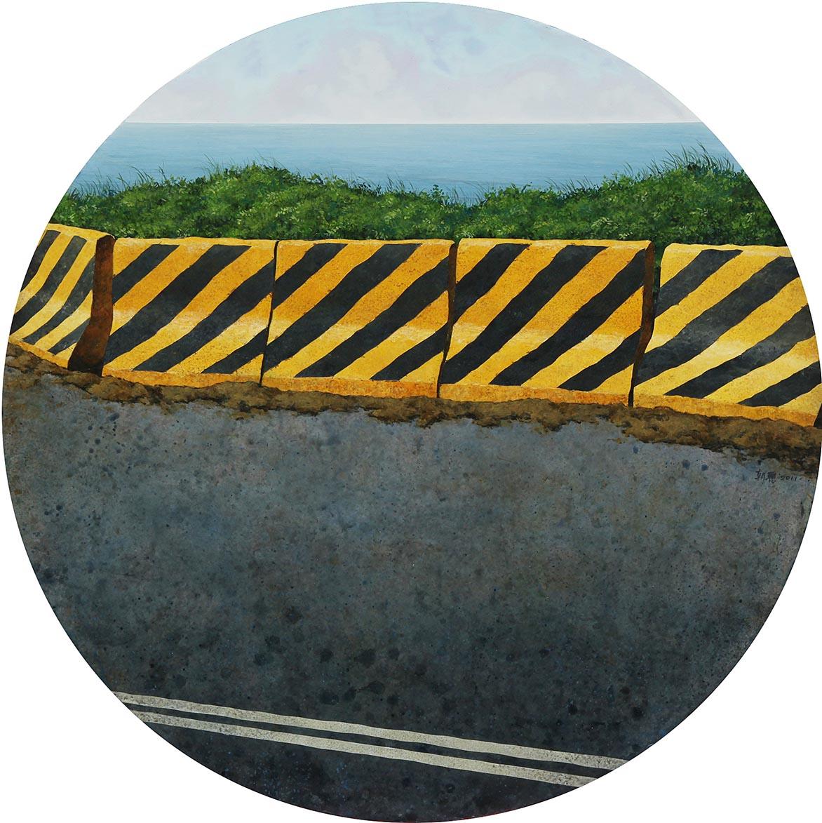 胡朝聪 边缘.轮廓21 2011 压克力、画布板  60.5x60.5cm