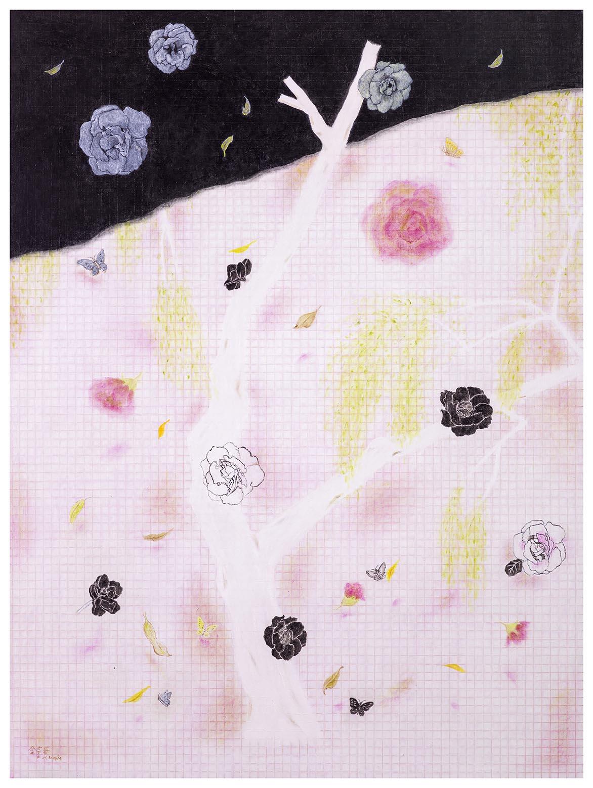 初春 油彩画布 130x97cm