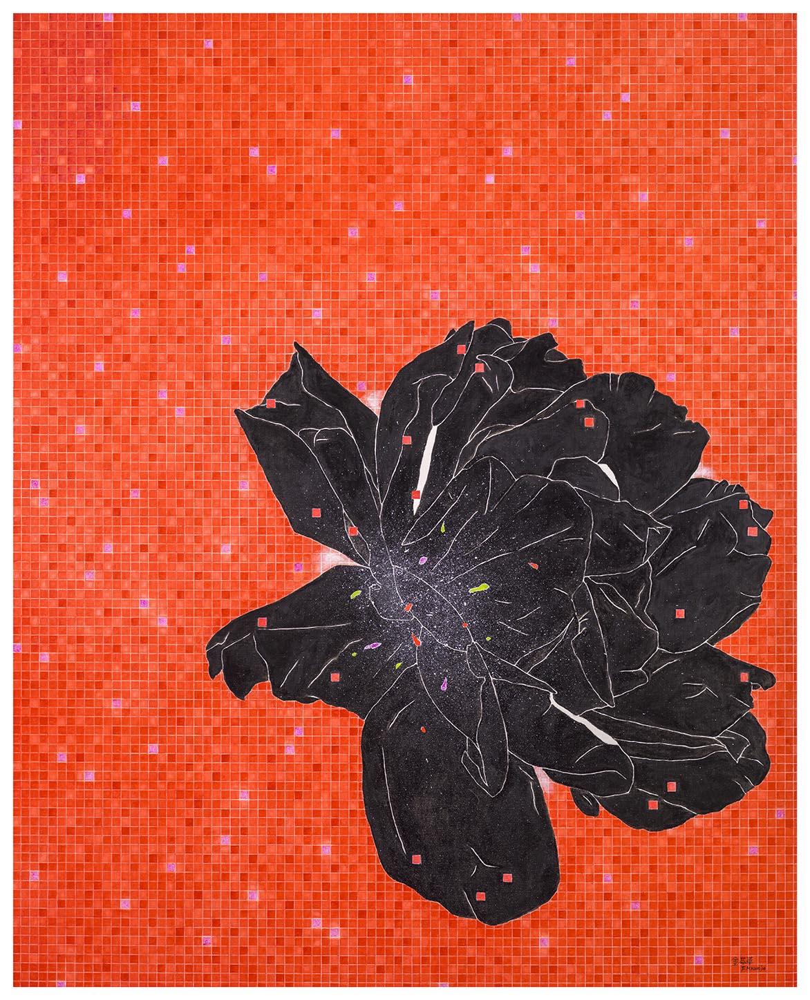 蔷薇花开-红 油彩画布 162x130cm