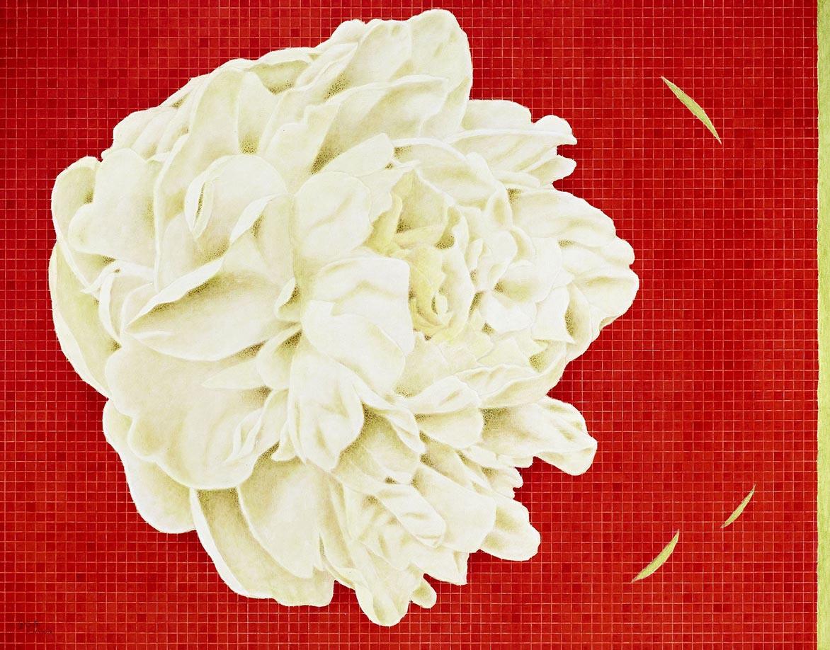 侧姿-白 油彩画布 91x116.5cm
