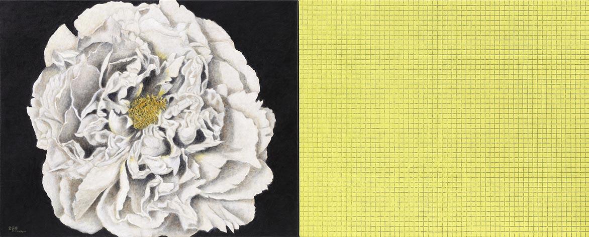 黑与黄 油彩画布 72.5x91cm x2