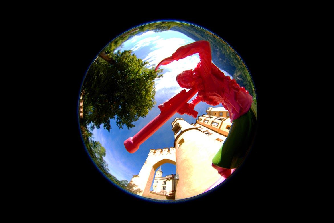 游击女孩-童话幻9 复合媒材 直径60cm