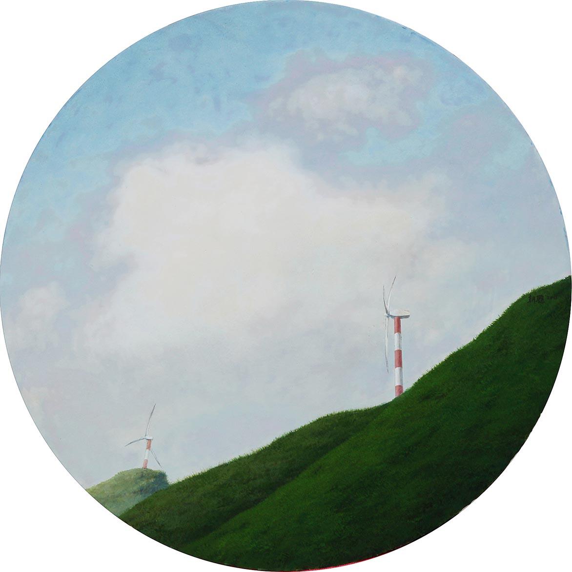 胡朝聪 边缘.轮廓22 2011 压克力、画布板 60.5x60.5cm