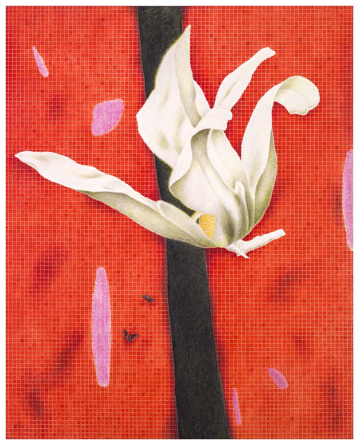 木兰花开-红 油彩画布 162x130cm