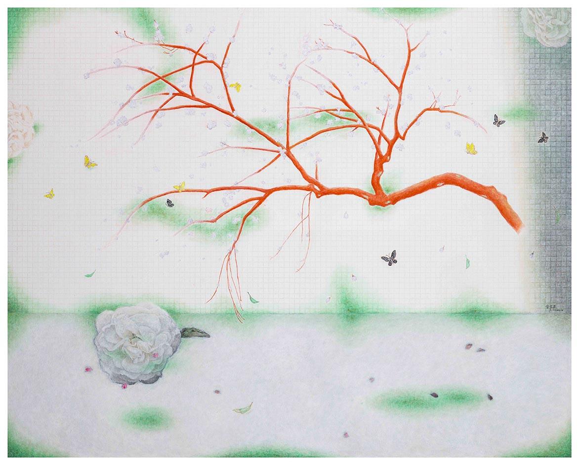 桃花源 II 油彩画布 130x162cm