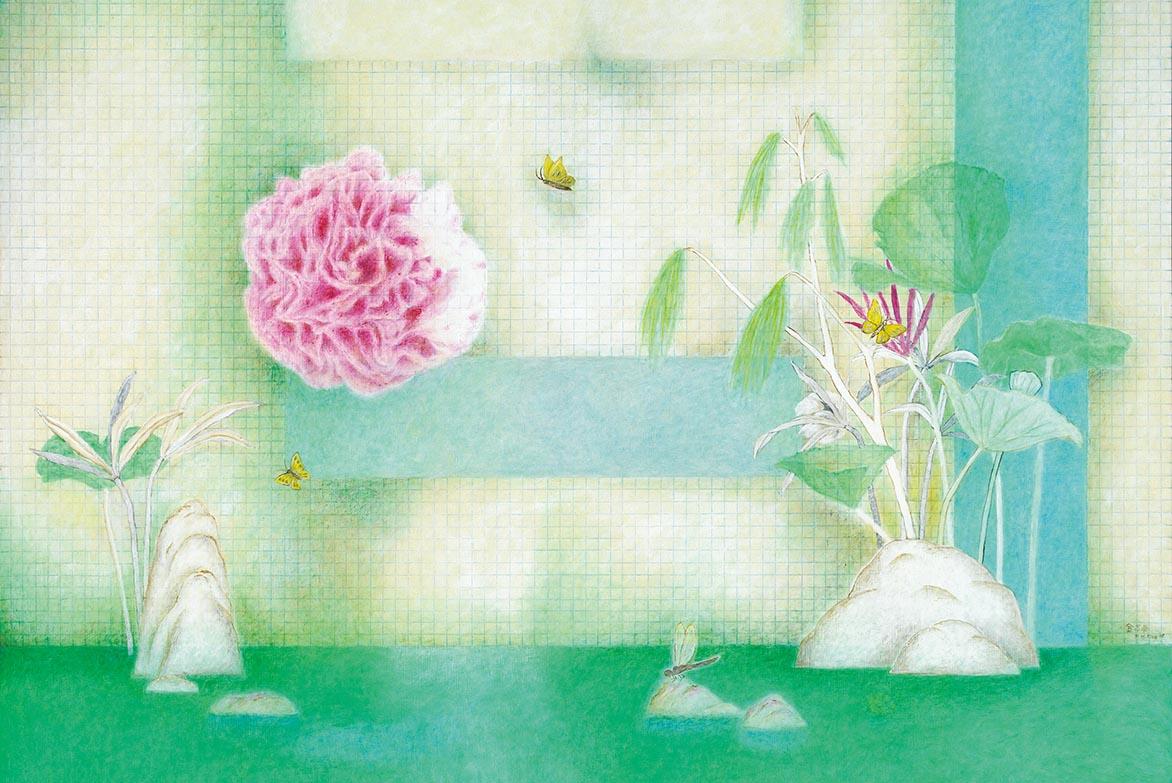 桃花源 油彩画布 130x162cm