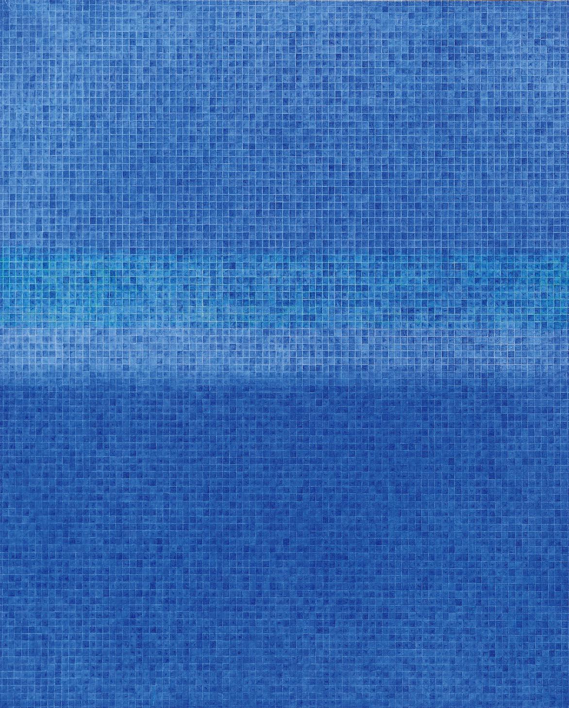 蓝光 油彩画布 162x130cm