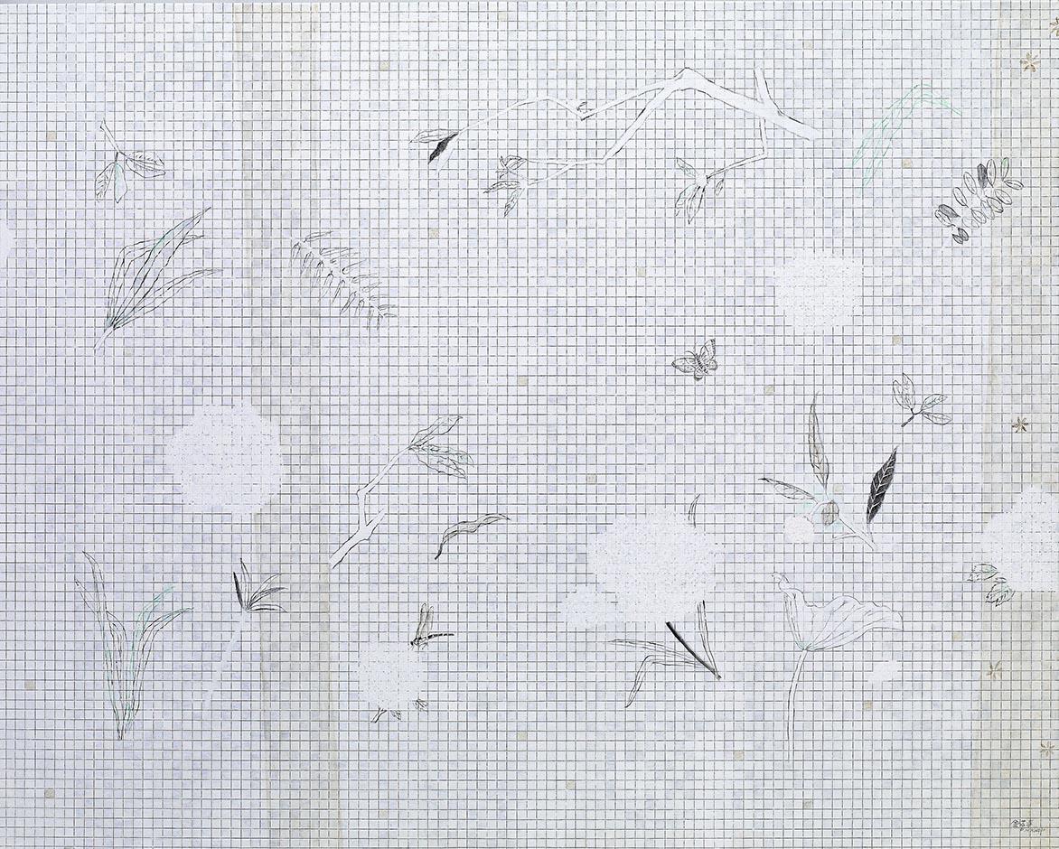 白之协奏 油彩画布 130x162cm