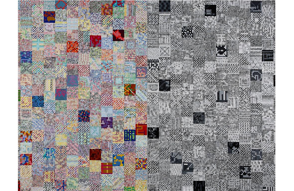 庄普 消失与再生 2012 压克力画布 168x112cmx2 (94号x2)