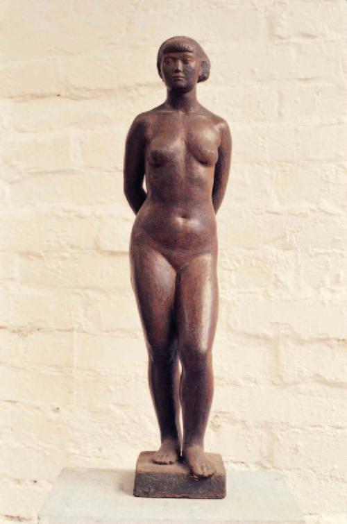 陈夏雨 裸女立姿 1944 树脂 54.5x18.2x12.7cm