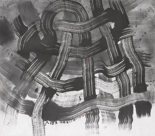 楚戈 结构主义之八 水墨丶纸本 92×105.5cm 114.5×128×6.5cm (含框)
