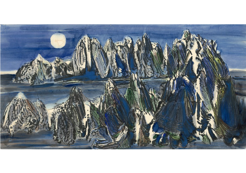 CHU Wei-Bor_Mountain Grand View Series-3_Ink and color on paper_70×135cm