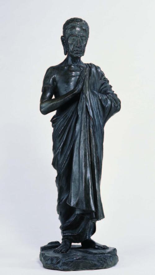 黄土水  释迦出山 1997 铜 112x38x38cm 图版提供:台北市立美术馆