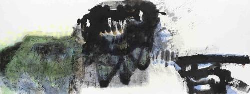 李重重  幻境 2015 水墨设色丶纸本 95×250cm