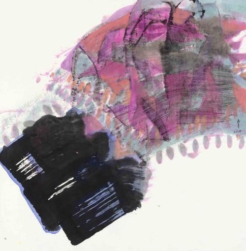 李重重  云想 2014 水墨设色丶纸本 69×67.5cm