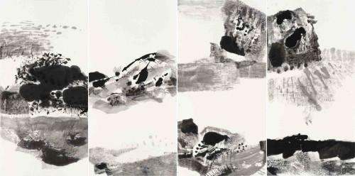 李重重  大地之母 2014 水墨丶纸本 136×276cm