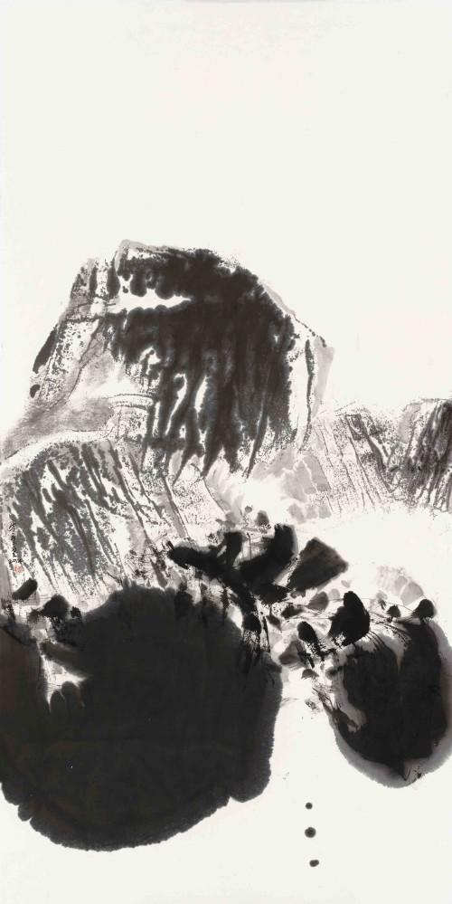 李重重  玄思 2014 水墨丶纸本  136×69cm