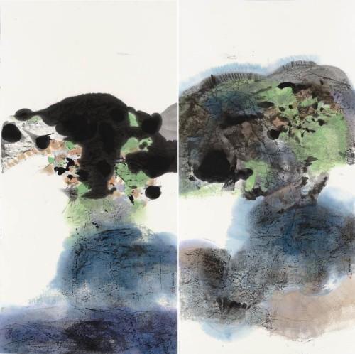李重重  穿越时空  2014 水墨设色丶纸本  136×139cm