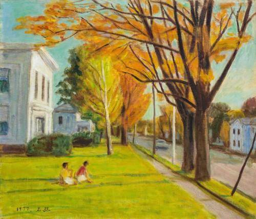 李石樵  芝加哥街景 1977 油彩画布  45.8×53.4cm (10F)