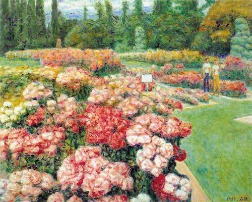 李石樵 玫瑰花园 1989 油彩画布  72.5x91cm (40F)