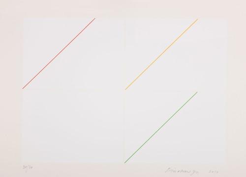 林寿宇 构成 - 白 2010 版画 73.5x104.5cm 87×117×6cm (含框) ed.30/30