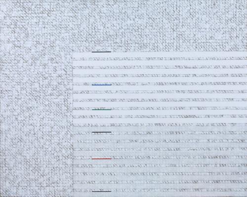 庄普 开放的水平 2015 压克力丶画布 71×90cm  87.5×106×7.8cm (含框)