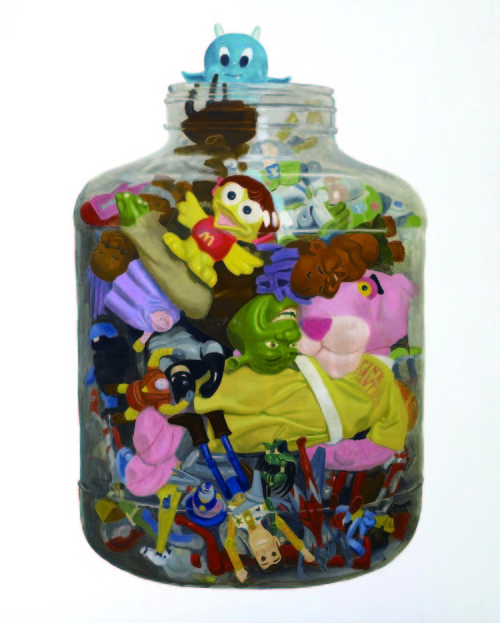 王建扬 瓶子里的玩具 2006-2010 油彩丶画布 162x130cm