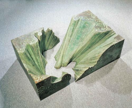 杨英风  太鲁阁峡谷 1973 铜 38x140x84.5cm