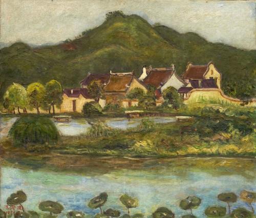 陈澄波  杭州古厝 1928 油彩画布  45×52cm (10F)