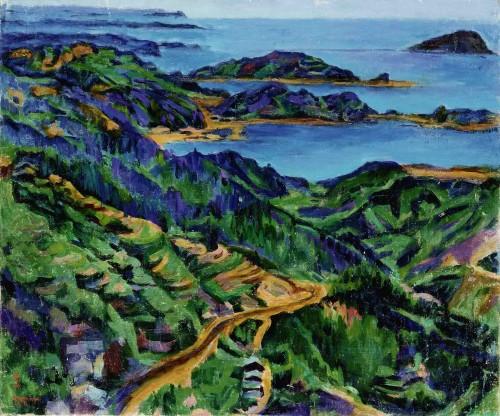 陈慧坤 瑞滨海边 1966 油彩画布 61×72.8cm 78×90cm(含框)