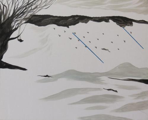 陈依纯 远山那一群的狼 2018 压克力丶画布 65×80cm