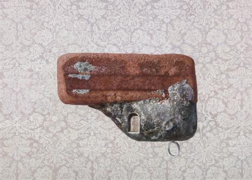 傅浩轩  约定系列  迷鹿 2014 油彩画布  91x65cm