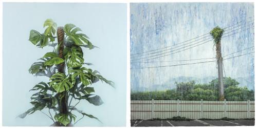 胡朝聪  成为一个地方-3 2017 压克力丶画布板  100.5x100.5cmx2