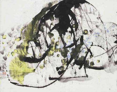 李重重  初遇A 2003 水墨设色丶纸本 35×45cm