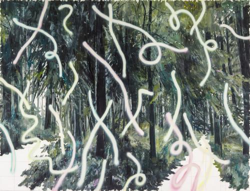 许常郁 无题37 2017 油彩丶压克力喷漆丶画布 130x170cm