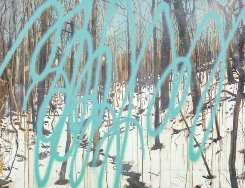 许常郁 无题21 2017 油彩丶压克力喷漆丶画布 100x130cm